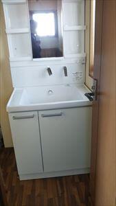 TOTO洗面化粧台サクアに取替ました。