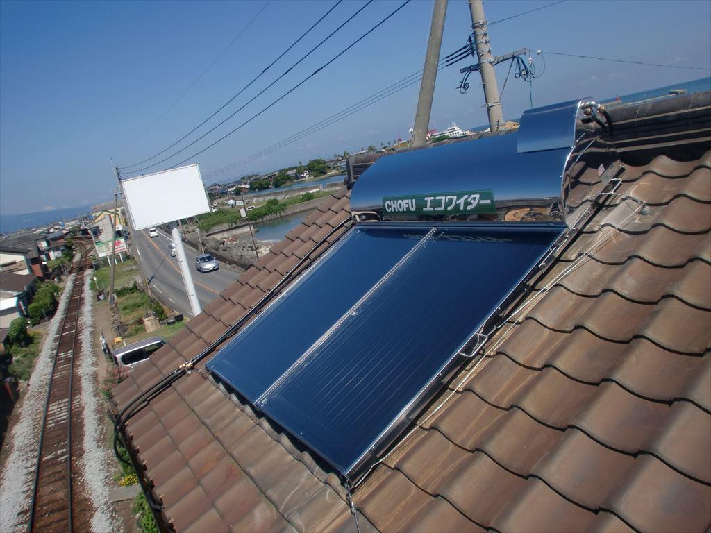 K様邸太陽熱温水器取替工事