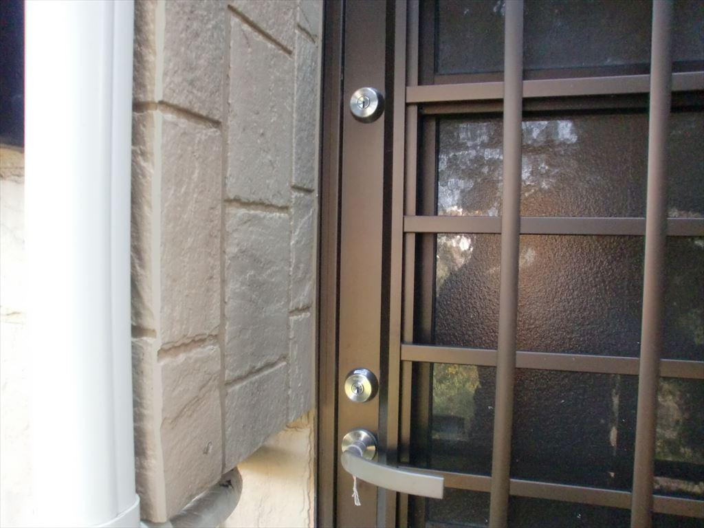 島原市有明町K様邸のサムターン錠を取替ました。