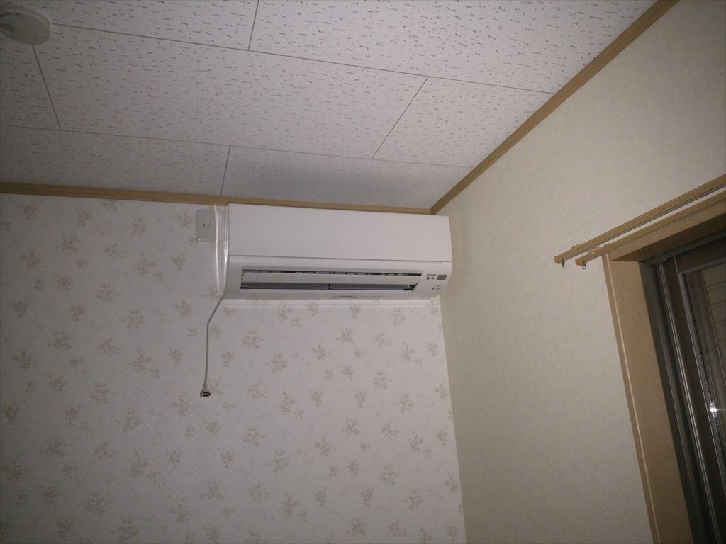 寝室に三菱ルームエアコン「霧ヶ峰」取付しました。