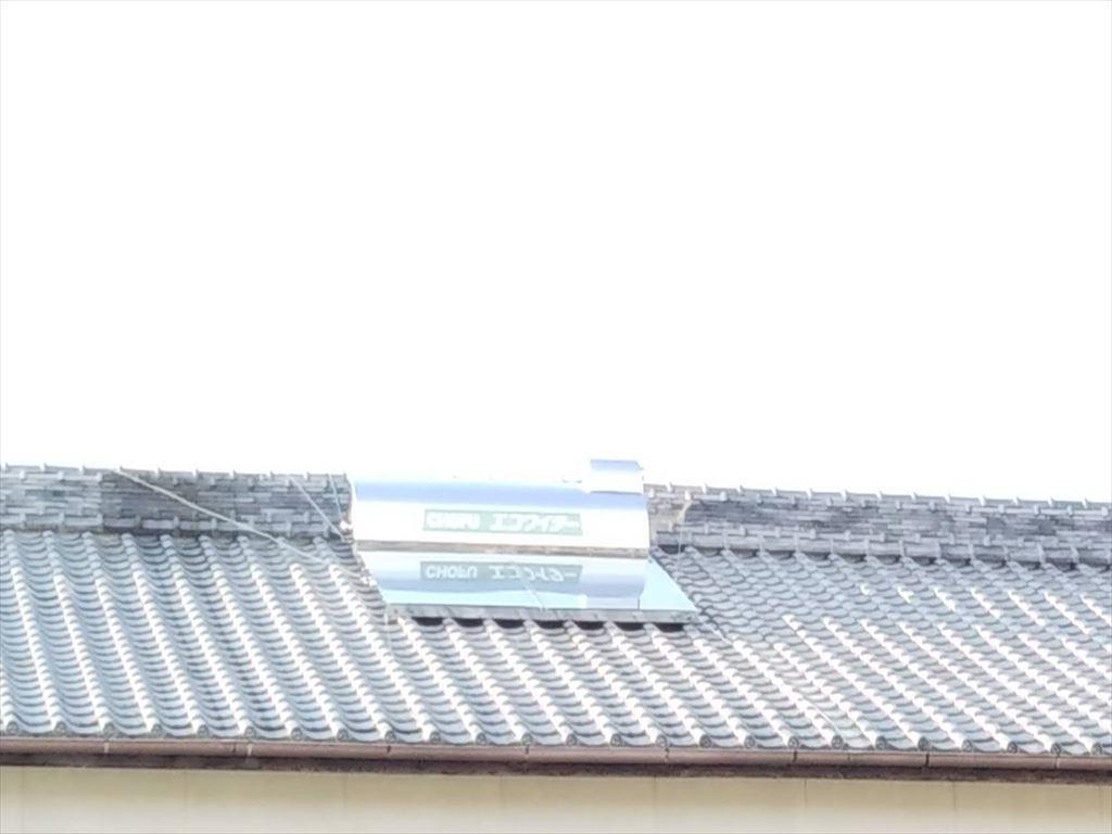 長府太陽熱温水器エコワイターに取替ました。