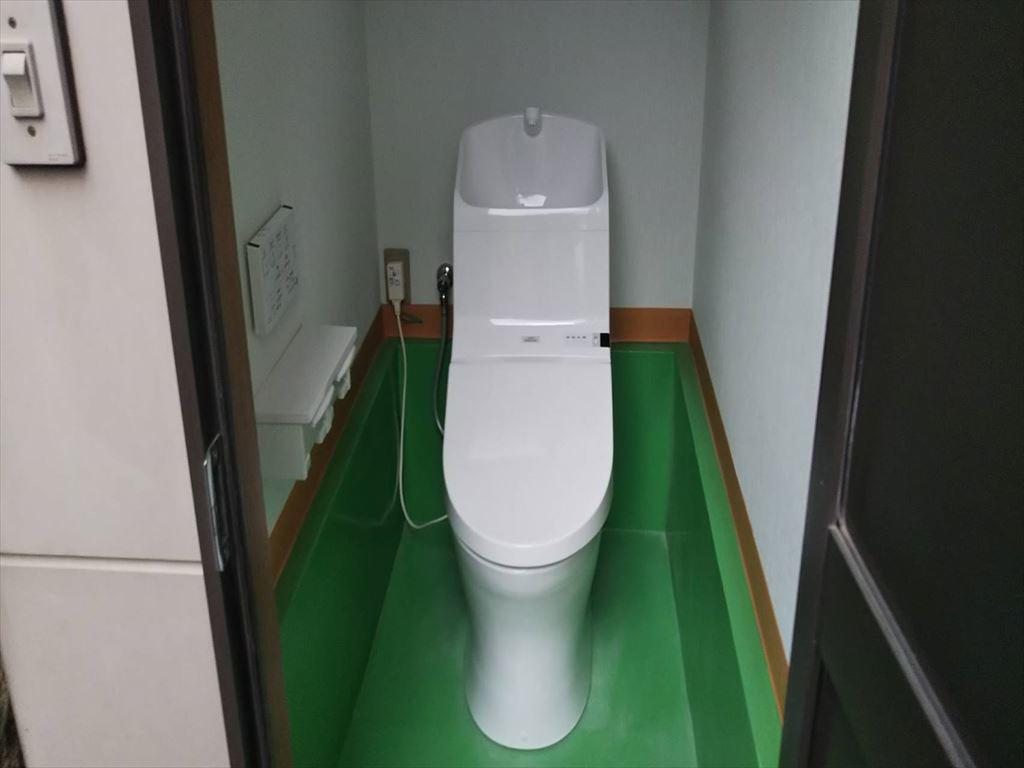 和式兼用便器から洋式トイレに切り替えました。