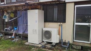 電気温水器から日立エコキュートに取り替えました。