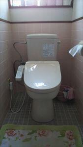 ダイワ化成 簡易水洗洋便器へ取り替えました。