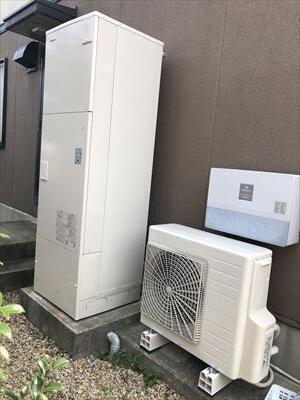 電気温水器から日立エコキュートに取替えました。